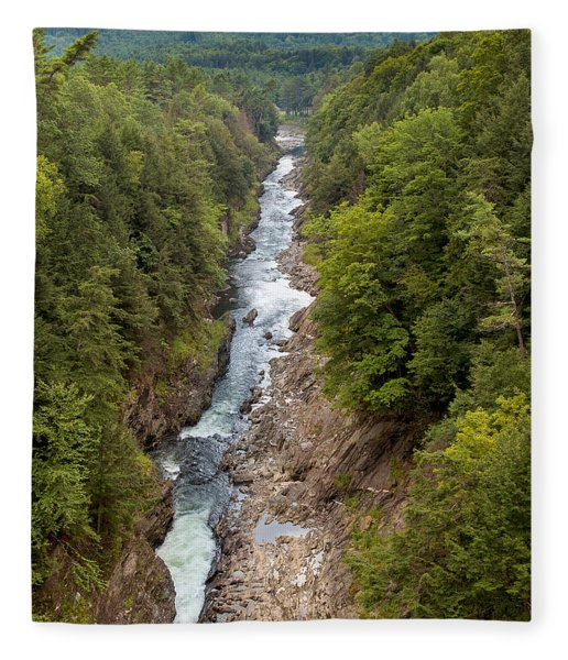 Quechee Gorge State Park Fleece Blanket