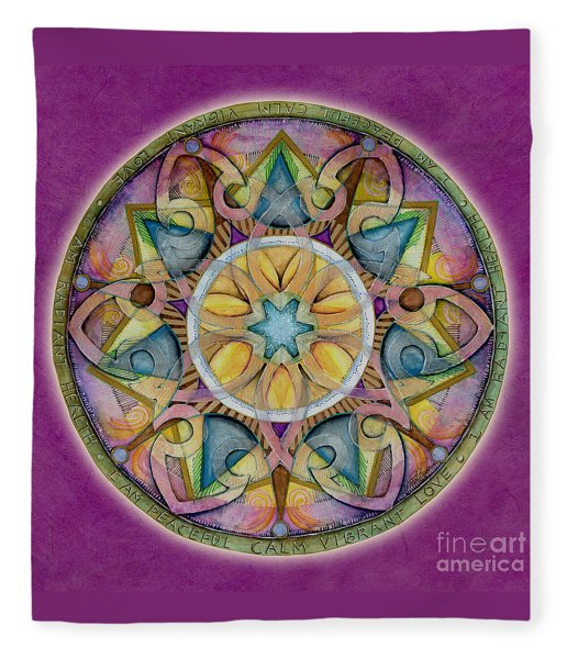 Radiant Health Mandala Fleece Blanket