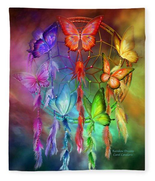 Rainbow Dreams Fleece Blanket