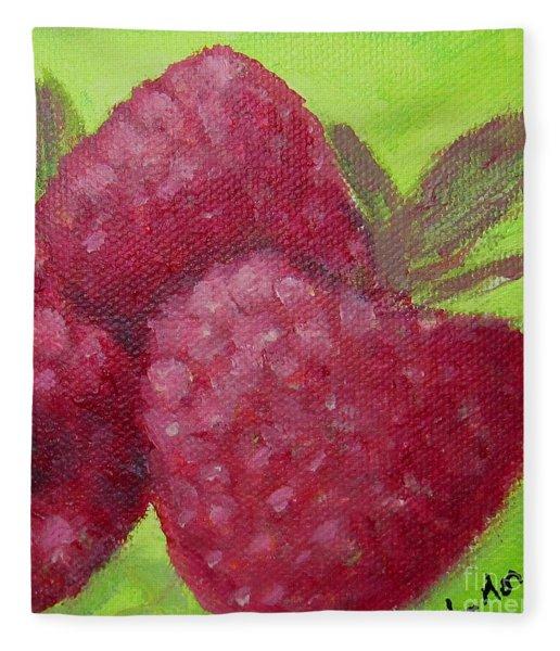 Raspberries Fleece Blanket