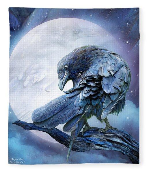 Raven Moon Fleece Blanket