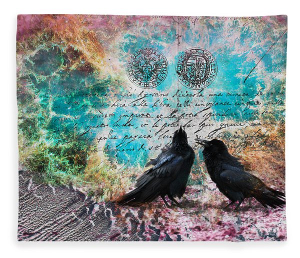 Crow Whispers In The Nowhere Fleece Blanket