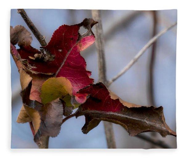 Red Over Branch Fleece Blanket