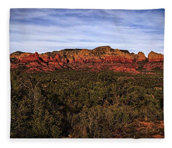 Red Rock Golden Hour 26 Fleece Blanket