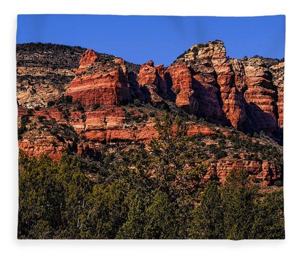 Red Rock Sentinels Fleece Blanket