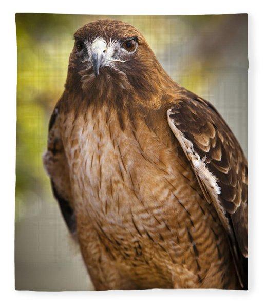 Eyes Of The Raptor Fleece Blanket