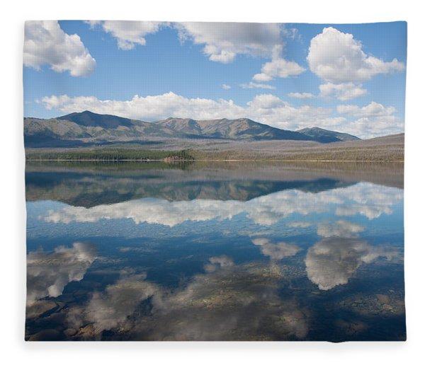 Reflections At Glacier National Park Fleece Blanket