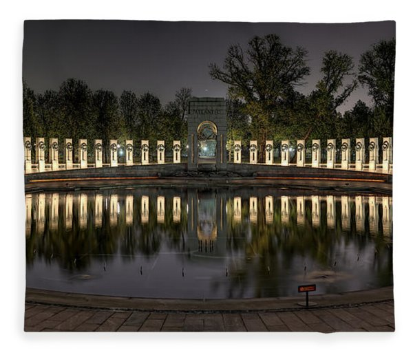 Reflections Of The Atlantic Theater Fleece Blanket