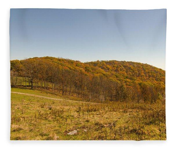 Rich Mountain Autumn Fleece Blanket