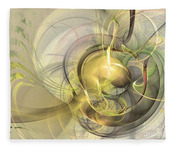 Fleece Blanket featuring the digital art Rising - Abstract Art by Sipo Liimatainen