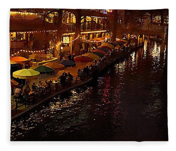 Riverwalk Night Fleece Blanket