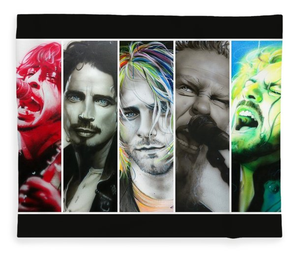 Rock Montage I Fleece Blanket