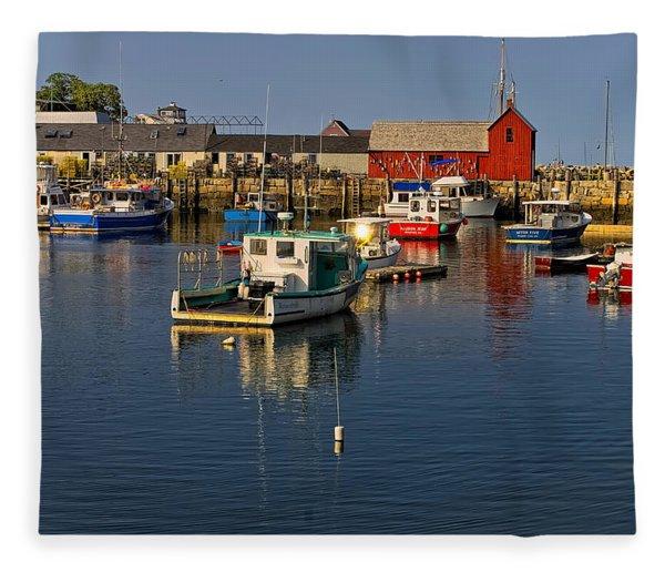 Rockport Harbor No.1 Fleece Blanket