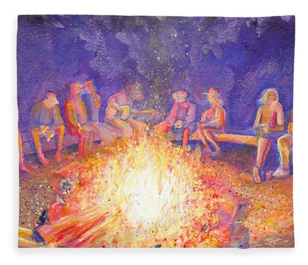 Roots Retreat Campfire Jam Fleece Blanket