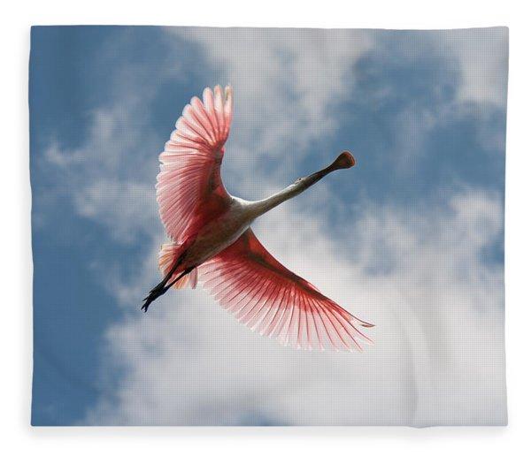 Roseate Soaring Fleece Blanket