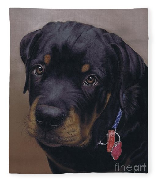 Rottweiler Dog Fleece Blanket