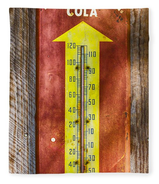 Fleece Blanket featuring the photograph Royal Crown Barn Thermometer by Carolyn Marshall