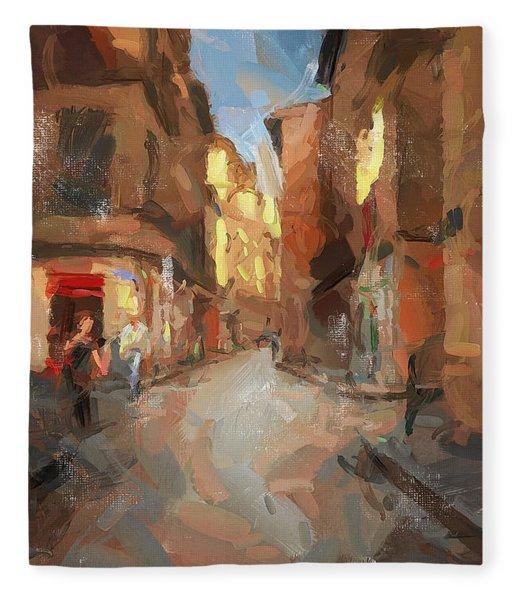 Rue Du Doyenne Fleece Blanket