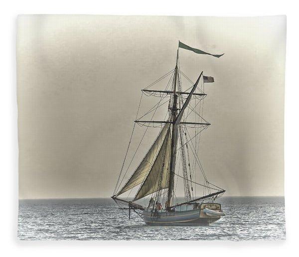 Sailing Off Fleece Blanket