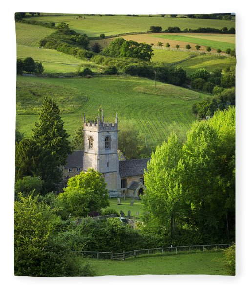 Fleece Blanket featuring the photograph Saint Andrews - Cotswolds by Brian Jannsen