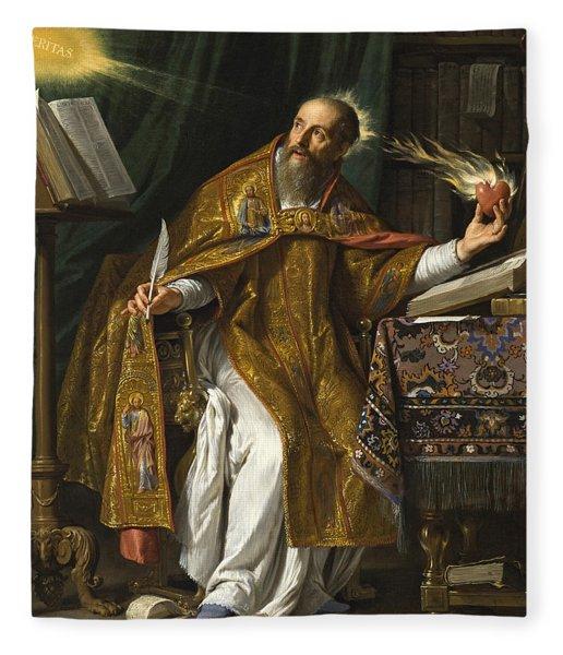 Saint Augustine Fleece Blanket