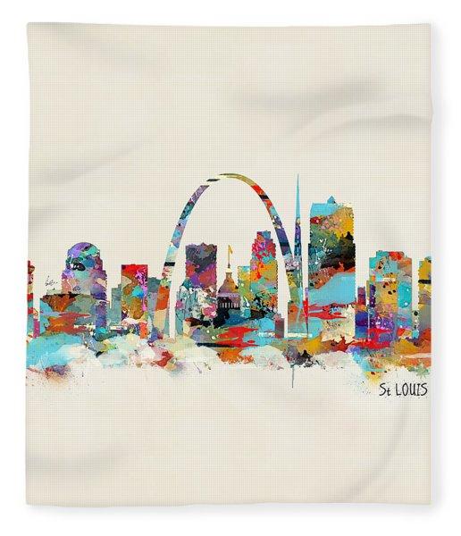 Saint Louis Missouri Skyline Fleece Blanket