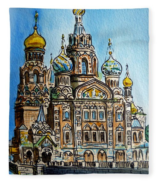 Saint Petersburg Russia The Church Of Our Savior On The Spilled Blood Fleece Blanket