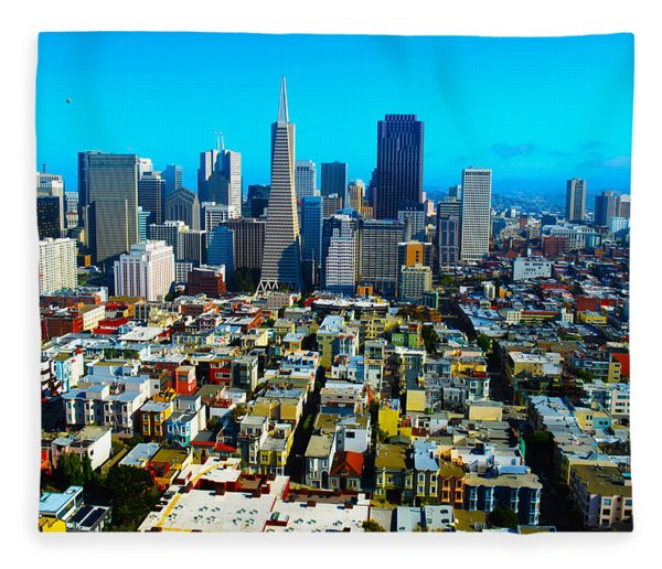 San Fran Colors Fleece Blanket