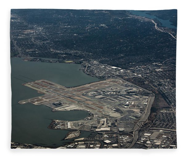 San Francisco International Airport Fleece Blanket