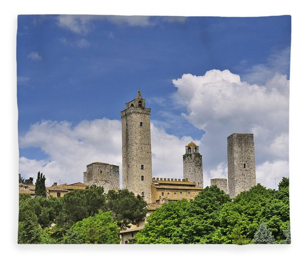 San Gimignano Fleece Blanket