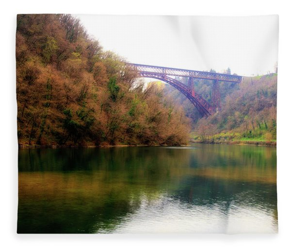 San Michele Bridge N.1 Fleece Blanket