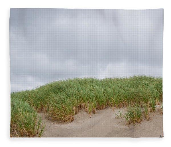 Sand Dunes And Grass Fleece Blanket
