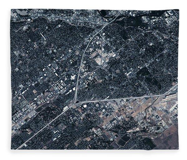 Satellite View Of Boise, Idaho, Usa Fleece Blanket