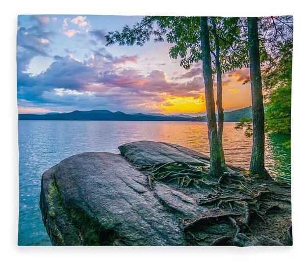 Fleece Blanket featuring the photograph Scenery Around Lake Jocasse Gorge by Alex Grichenko