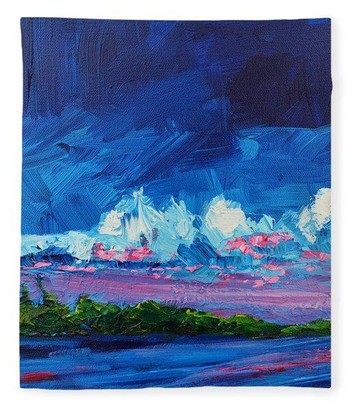 Scenic Landscape  Fleece Blanket