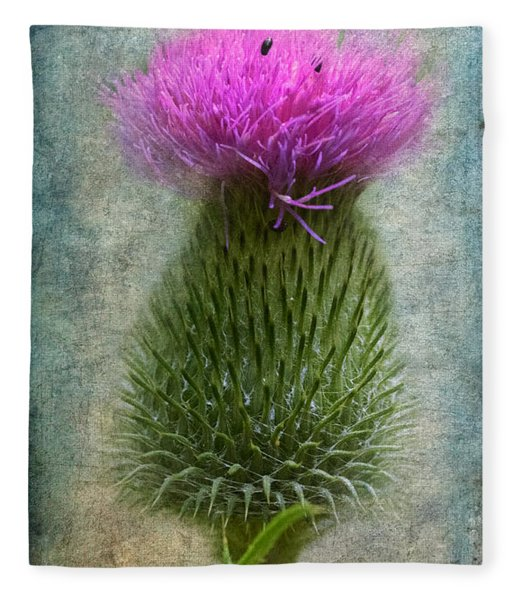 Fleece Blanket featuring the photograph Scotch Thistle by Garvin Hunter