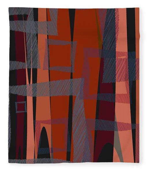 Fleece Blanket featuring the digital art Scribbled Pop by Matt Lindley