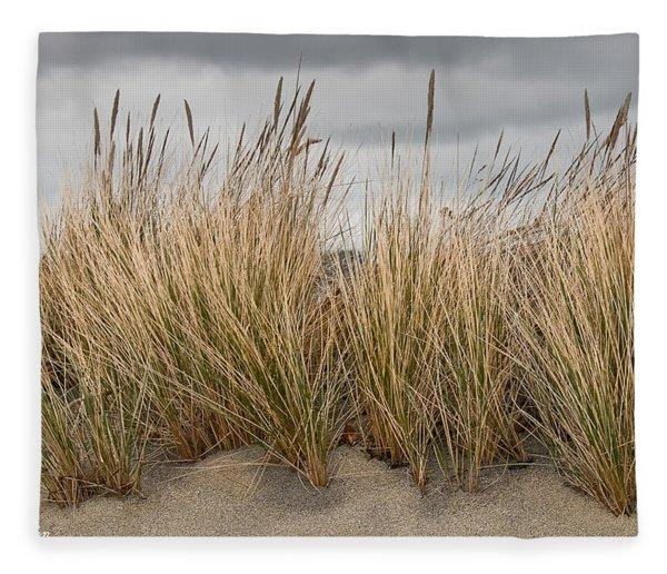 Sea Grass And Sand Fleece Blanket