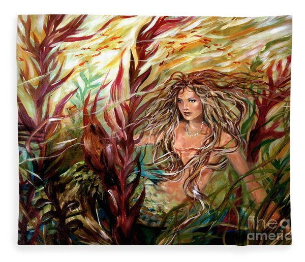 Seaweed Mermaid Fleece Blanket