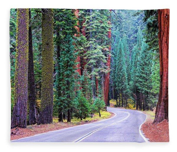 Sequoia Hwy Fleece Blanket