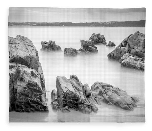 Seselle Beach Galicia Spain Fleece Blanket