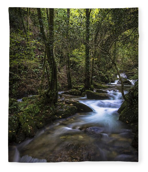 Sesin Stream Near Caaveiro Fleece Blanket