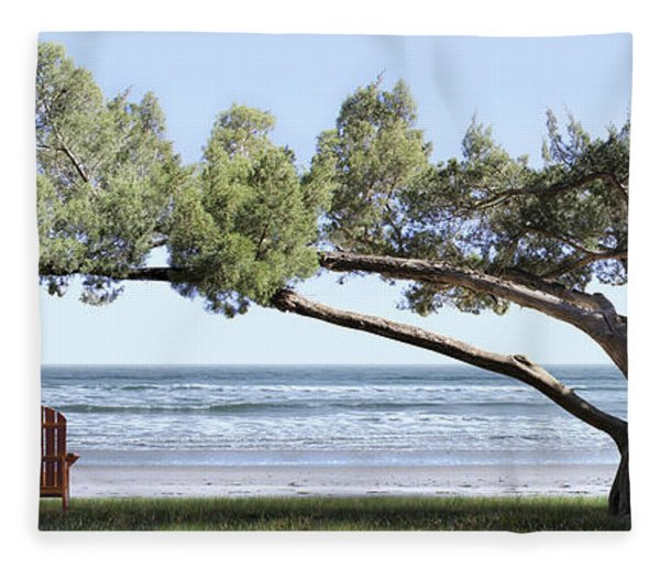 Shade Tree Panoramic Fleece Blanket