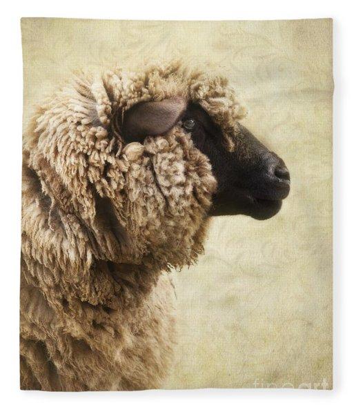 Side Face Of A Sheep Fleece Blanket
