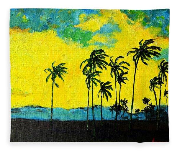 Silhouette Of Nature Fleece Blanket