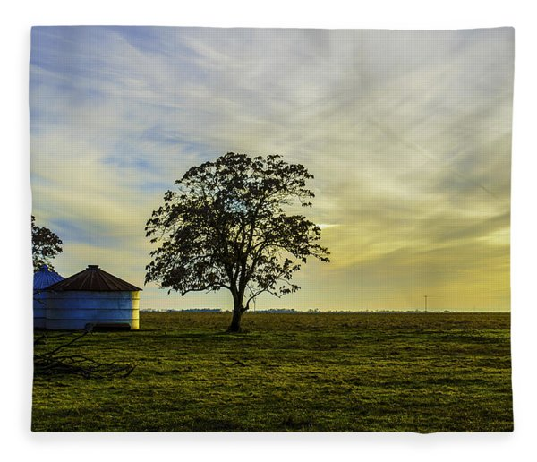Silos At Sunset Fleece Blanket