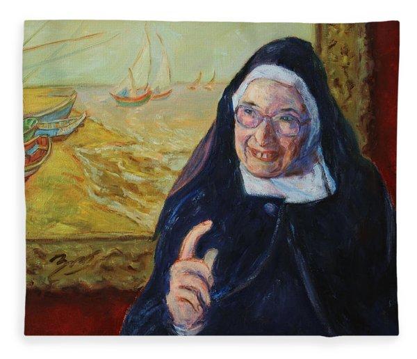 Sister Wendy Fleece Blanket