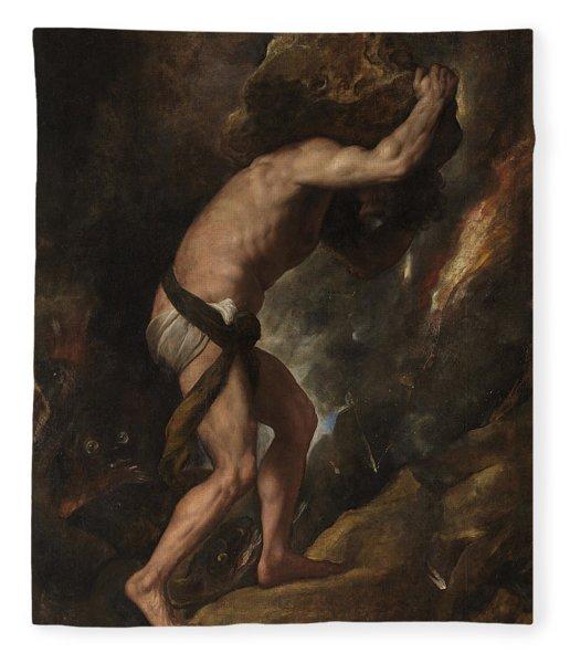 Sisyphus Fleece Blanket