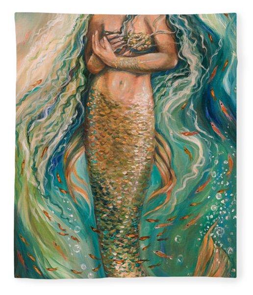 Slumbering Mermaid Fleece Blanket