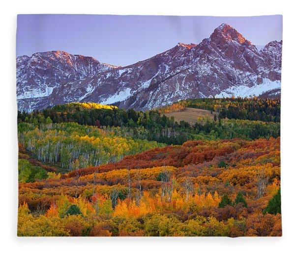 Sneffels Sunrise Fleece Blanket